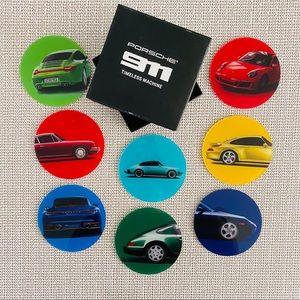 Porsche 911 Cars coasters, set of 8